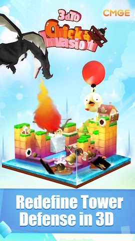 3DTD: Chicka Invasion Screenshot 1 - Redefine Tower Defense in 3D