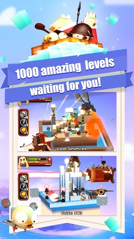 3DTD: Chicka Invasion Screenshot 2 - 1000 amazing levels waiting for you!
