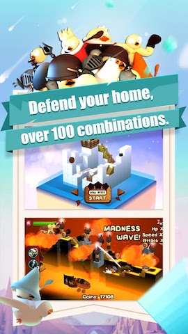 3DTD: Chicka Invasion Screenshot 3 - Defend you home over 100 combinations.