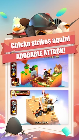 3DTD: Chicka Invasion Screenshot 4 - Chicka strikes again! ADORABLE ATTACK!